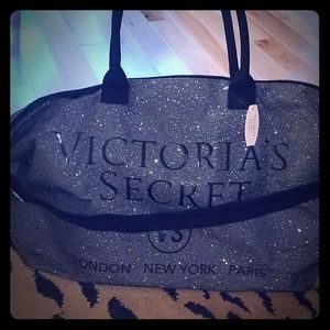 Gray Sparkle and Glamorous Large Bag by VS